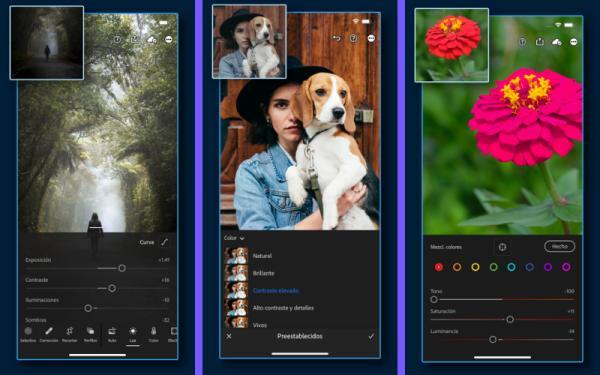 Los mejores editores de fotos para iPhone - Lightroom