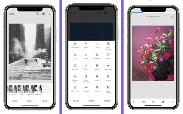 Los mejores editores de fotos para iPhone - SnapSeed