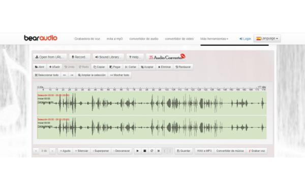 Editores de audio online gratis - Bear Audio