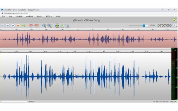 Editores de audio online gratis - TwistedWave