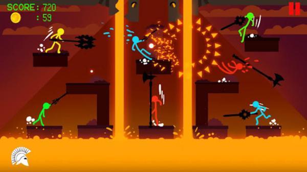 Los 10 mejores juegos multijugador cooperativo para Android - Stick Fight