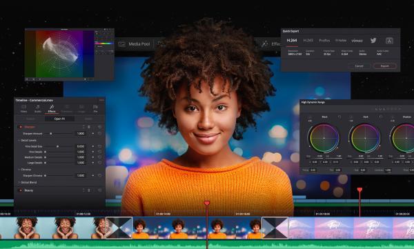 Mejores editores de vídeos para principiantes - DaVinci Resolve 16