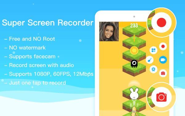 Apps para grabar pantalla en Android - Super Screen Recorder