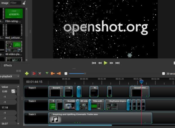 Programas para editar videos gratis sin marcas de agua - OpenShot