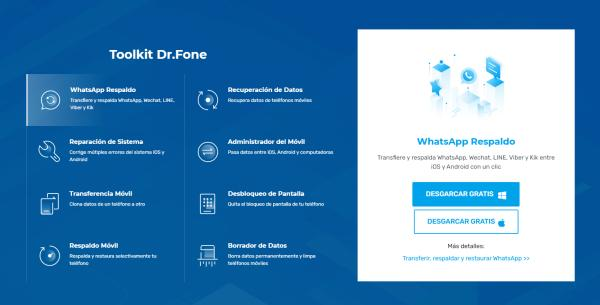 Cómo pasar WhatsApp de Android a iPhone - Dr.Fone