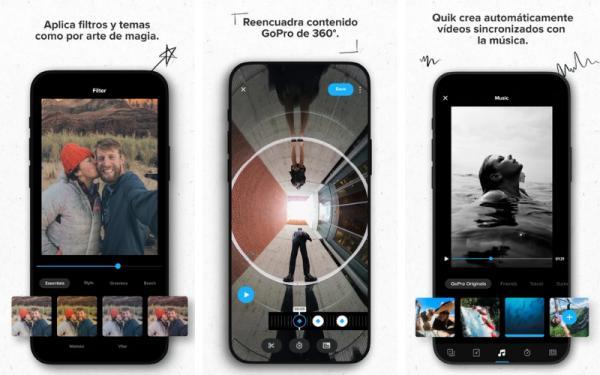 Editores de vídeo para Android - Quik de GoPro
