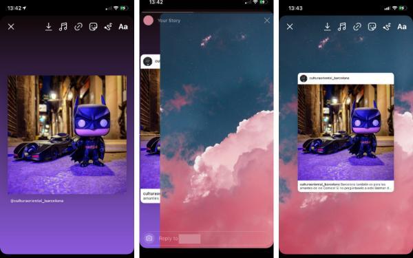 Cómo cambiar el fondo de una historia de Instagram - Cómo cambiar el fondo de una historia compartida en Instagram