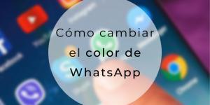Cómo cambiar el color de WhatsApp