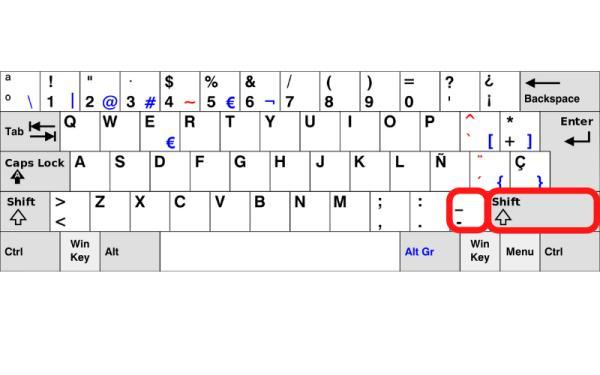 Cómo poner el guion bajo en una laptop