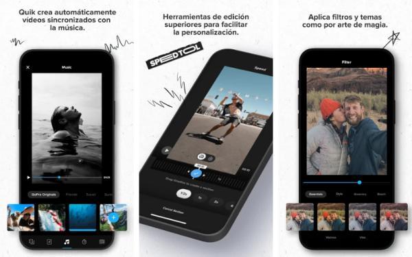 Aplicaciones para editar videos de TikTok - Quik