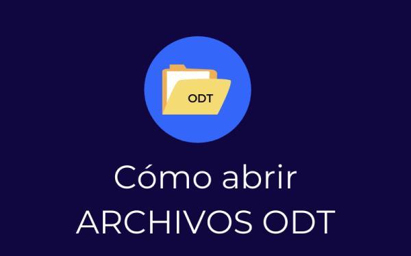 Cómo abrir un archivo ODT
